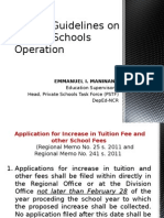 Rules - Guidelines on Private School -Edited June 19