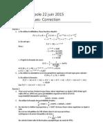 Bac STMG 2015 - maths