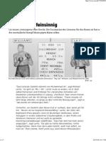 Faustkampf, Feinsinnig - Taz