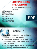 Evaluation of Loan