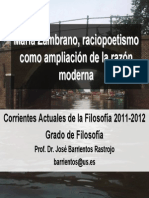 Tema 1 - María Zambrano