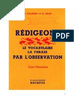 133353915 Langue Francaise Redigeons 01 CE1 CE2 Palmero Felix