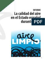La calidad del aire en el Estado español durante 2014
