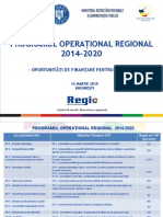 Prezentarea POR 2014-2020 Facuta de Directorul AM de La MDRAP Gabriel Friptu
