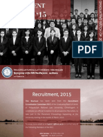 HNLU - Batch of 2016 - Recruitment Brochure