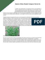 ¿Cuales Son Los Mejores Sitios Donde Comprar Stevia En Linea?