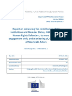 FRAME - Report on enhancing the contribution of EU institutions and Member States, NGOs, IFIs and Human Rights Defenders, to more effective engagement with, and monitoring of, the activities of Non-State Actors