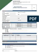 Shinhan Scholarship Application Form 2015