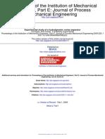 Experimental Study of a Hydrodynamic