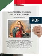 El Misterio de La Inmaculada. Hacia Una Lectura Actualizada