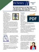 Newsletter 5/2/2013
