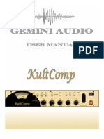 Gemini Audio KultComp User Manual