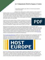 Adquirir Alojamiento Y Alojamiento Web En Espana A Costes Baratos