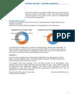 GSA Mental Health Services Survey Report