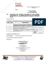 Cot de Insp de Líquidos Penetrantes (PT) a Uniones Soldadas de Tapa de Reactor N 8 y Reparaciones de Tanque M-1-Set 13