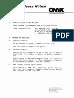 ONIX 1.4 Release Notice Mar81