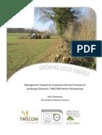 Management Impacts on Ecosystem Service Provision of Landscape Elements
