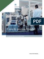 Lista de Precios Siemens 2014