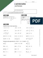 Algebra 2 Study Guide