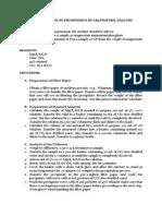 Determination of Phosphorus by Gravimetry