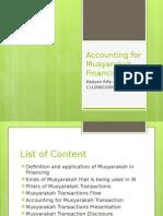 Accounting for Musyarakah Financing