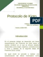 Protocolo de Kioto LUIS BLANCO