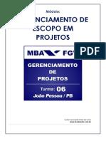 02 - Gerenciamento de Escopo de Projetos