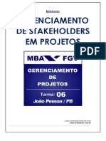 08 - Gerenciamento de Stakeholders Em Projetos