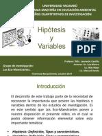 Hipotesis y variables. Los Ecomaestrantes