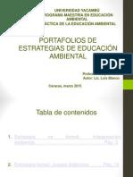 Portafolios de estrategias de Educación Ambiental