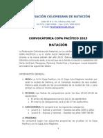 Convocatoria Copa Pacifico Natación 2015