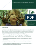 Natural Play & Learning Area Guidelines Project