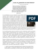 """(3) """"A FORÇA DA CALMA, NO XAMANISMO DE JORGE MENEZES"""""""