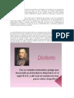 Diofanto de Alejandría Es El Padre de La Aritmética y Del Álgebra en El Sentidocon Que Practicamos Estas Ciencias