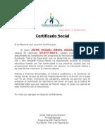 Certificado de Gratuidad 2014