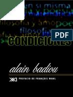 Condiciones Alain Badiu