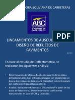 Lineamientos de Auscultacion y Diseño Bolivia