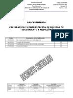 SIG-PR-008 _ Procedimiento de Calibración y Contrastación de Equipos de Segu. y Med. REV.03