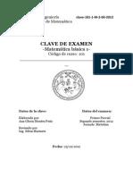 Clave de Exmaen Mate Basica 1 USAC