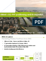 EBlink's 5G-PPP positioning and its expertise