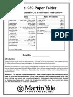 Martin Yale 959 Manual