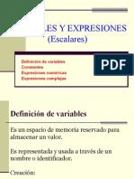 Variables y Expresiones Escalares