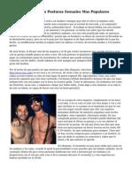 Kamasutra Gay, Las Posturas Sexuales Mas Populares