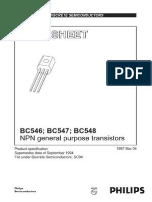 BC546-BC547-BC548 | Bipolar Junction Transistor | Transistor