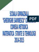 Materiale Comisie 2014 2015