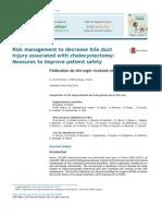 La gestión de riesgos para reducir lesiones del conducto biliar asociada con colecistectomía