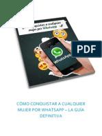 eBook Como Conquistar a Cualquier Mujer Por WhatsApp