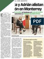 23-06-15 Margarita y Adrián alistan transición en Monterrey