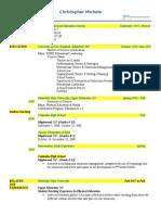 edu 695 mod 1 resume