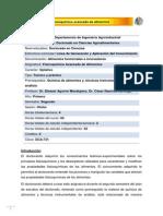 DCA-731 Fisicoquímica avanzada de alimentos